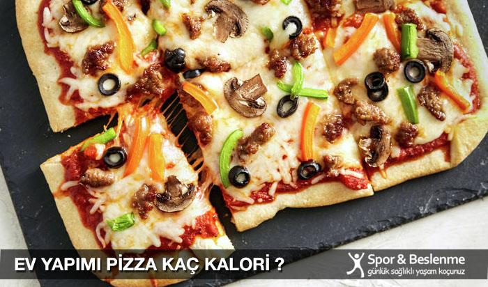 ev yapımı pizza kaç kalori