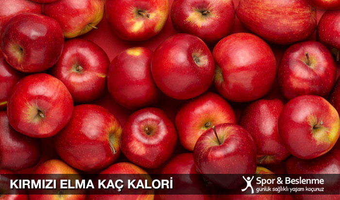 kırmızı elma kaç kalori