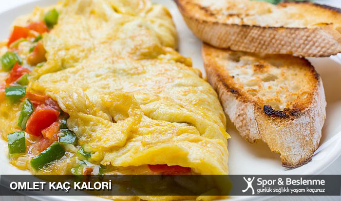omlet kaç kalori