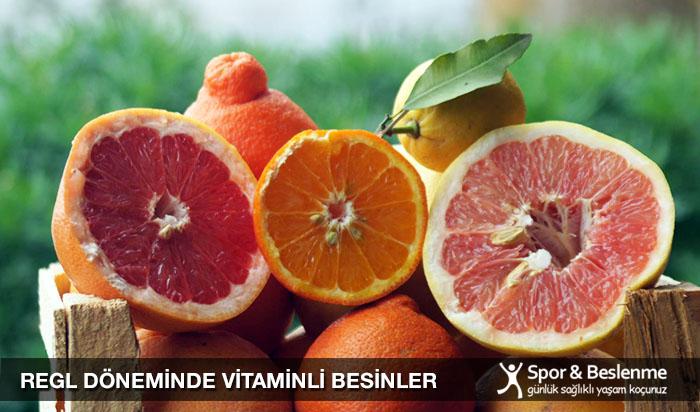 regl mens döneminde vitaminli yiyecekler