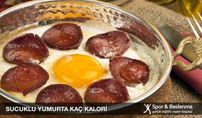 sucuklu yumurta kaç kalori