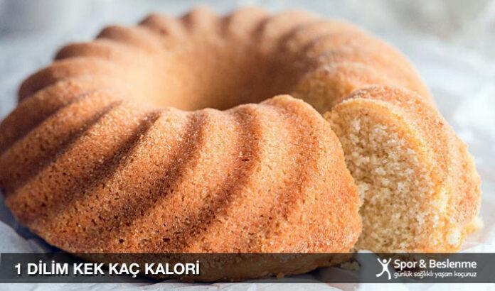 1 dilim kek kaç kalori