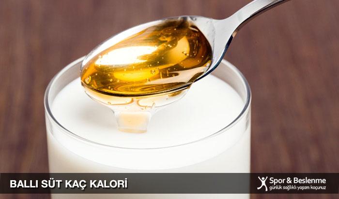 ballı süt kaç kalori