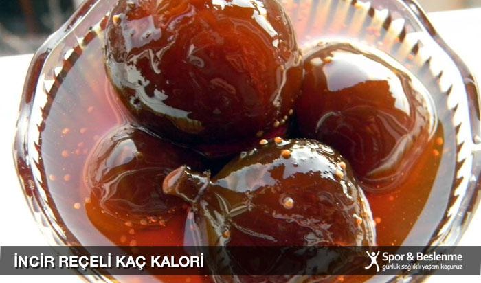 incir reçeli kaç kalori