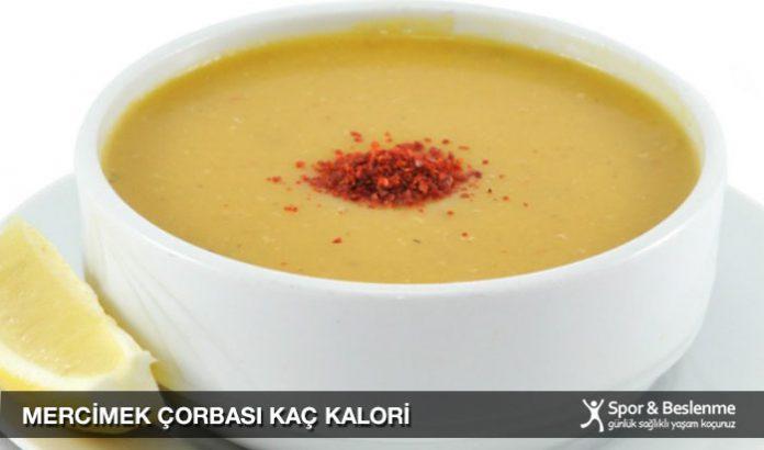 mercimek çorbası kaç kalori