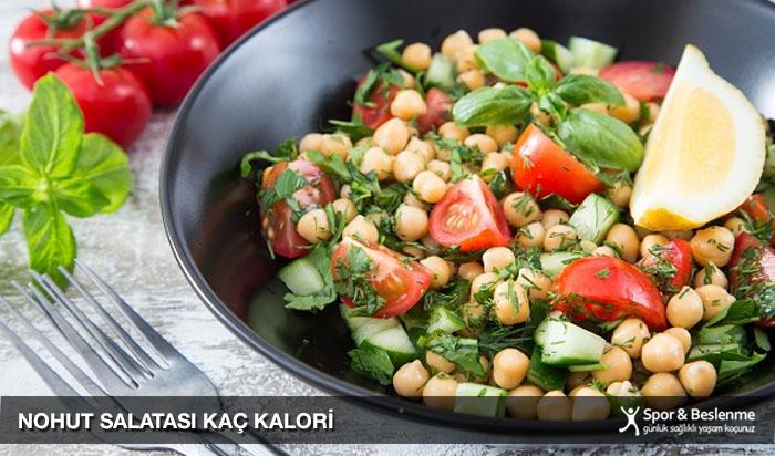 nohut salatası kaç kalori