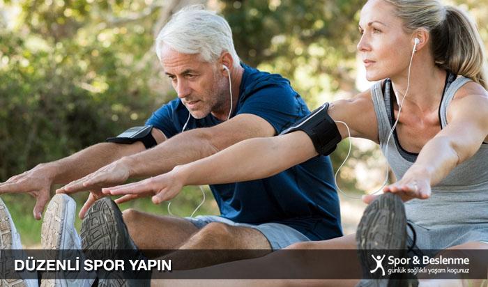 sağlıklı ve uzun yaşamak için düzenli spor yapın