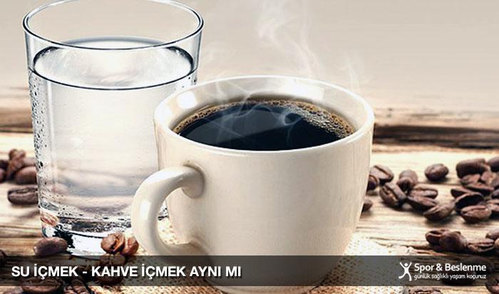 kahve içmek suyun yerini tutar mı