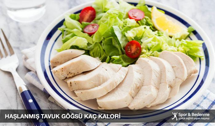 haşlanmış tavuk göğsü kaç kalori