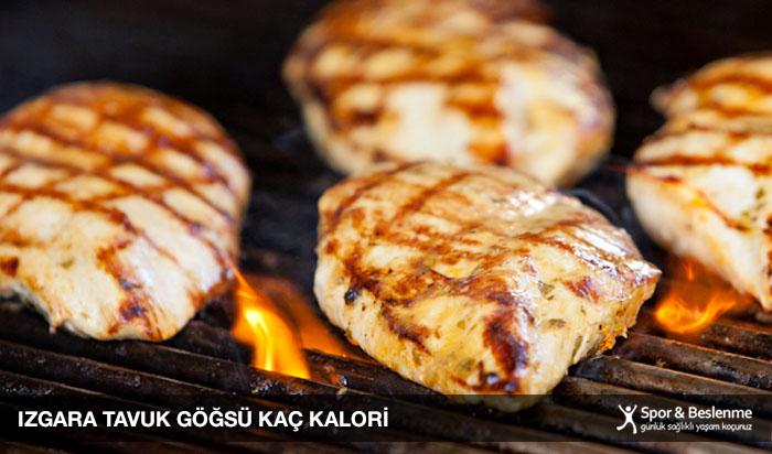 ızgara tavuk göğsü kaç kalori