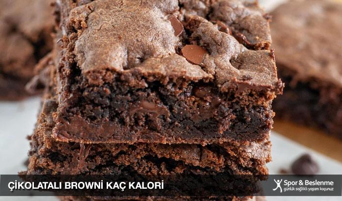 çikolatalı browni kaç kalori