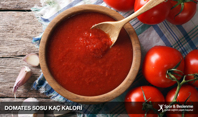 domates sosu kaç kalori