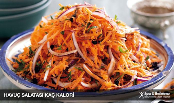 havuç salatası kaç kalori