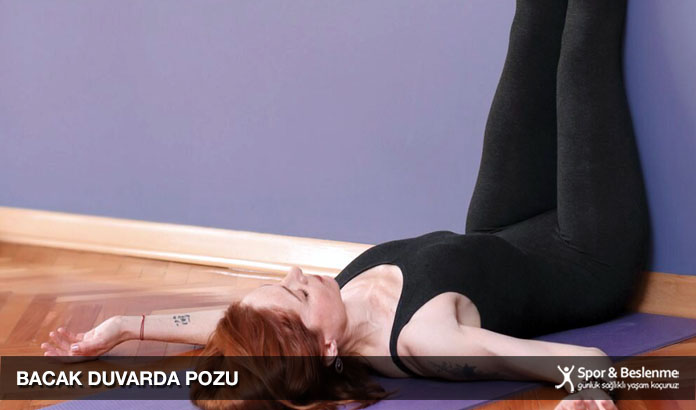 uyku yogası bacak duvarda pozu