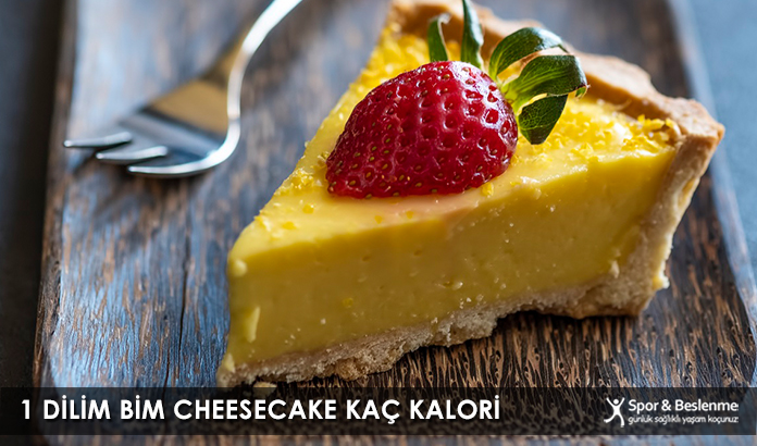 1 Dilim Bim Cheesecake Kaç Kalori
