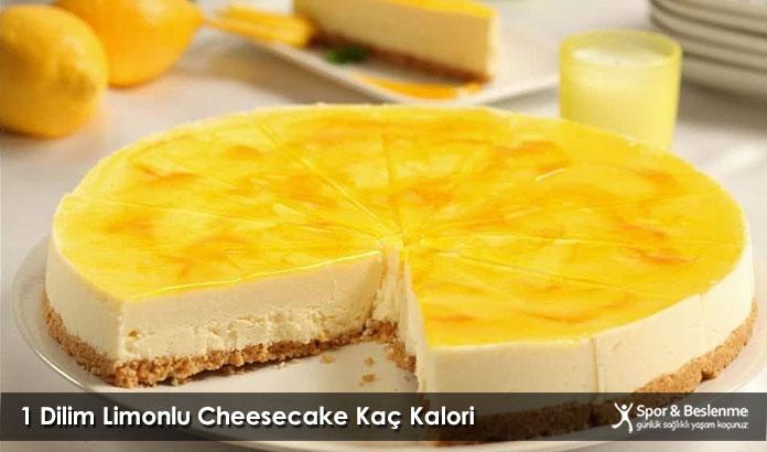 1 Dilim Limonlu Cheesecake Kaç Kalori