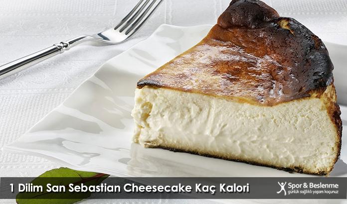 1 Dilim San Sebastian Cheesecake Kaç Kalori
