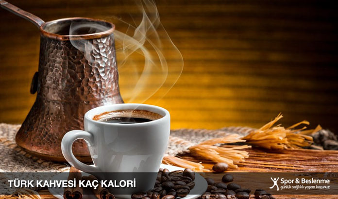 sade orta şekerli türk kahvesi kaç kalori