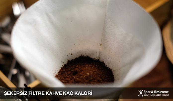 şekersiz filtre kahve kaç kalori