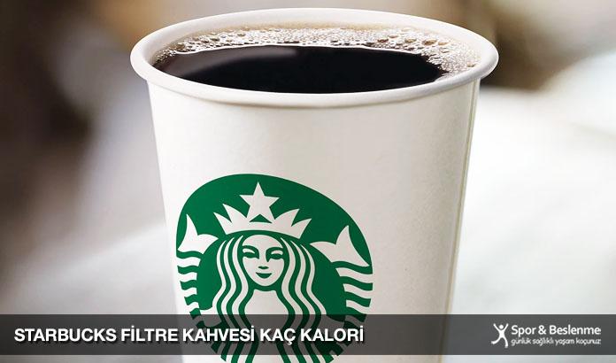 starbucks filtre kahvesi kaç kalori