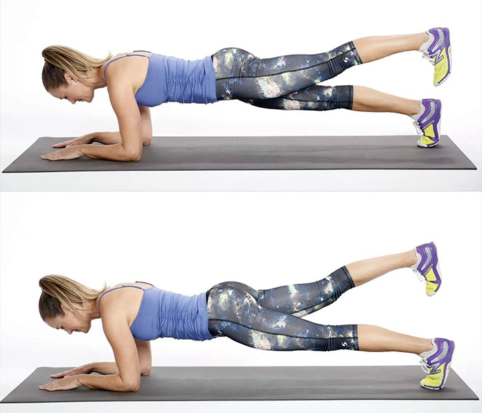 tek bacak yukarda plank hareketi