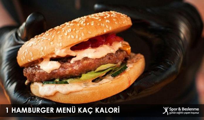 1 Hamburger Menü Kaç Kalori