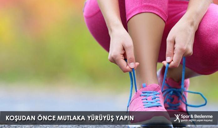 Koşudan Önce Mutlaka Yürüyüş Yapın