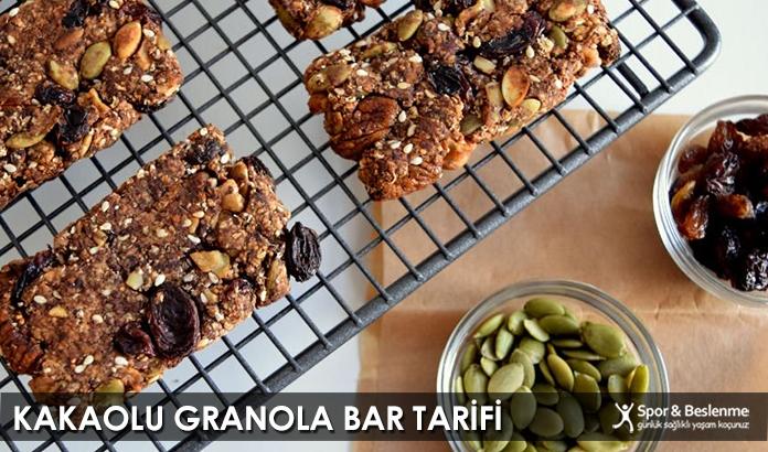 Kakaolu Granola Bar Tarifi