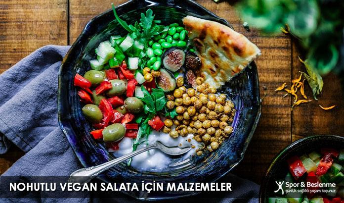 Nohutlu Vegan Salata İçin Malzemeler