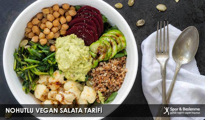 Nohutlu Vegan Salata Tarifi