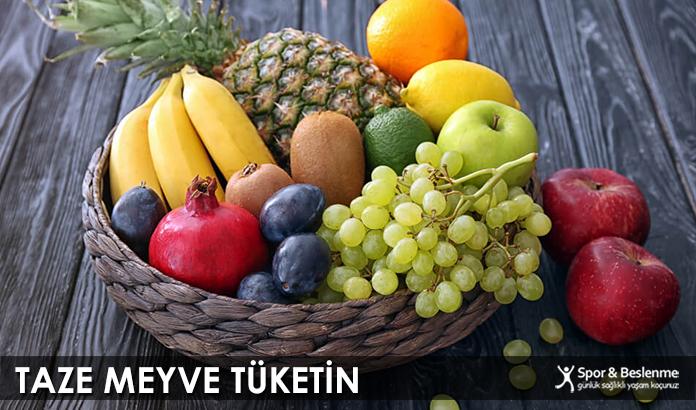 Taze Meyve Tüketin