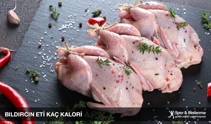 bıldırcın eti kaç kalori