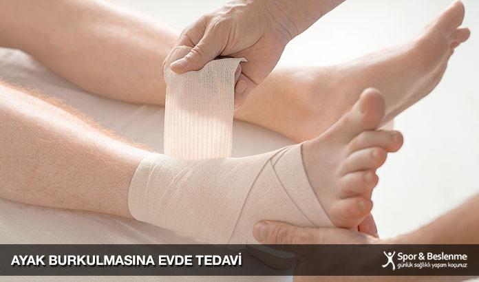 ayak burkulması evde tedavi