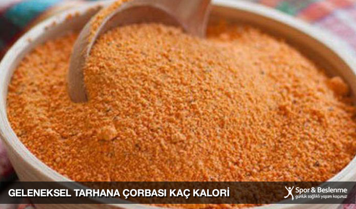 geleneksel tarhana çorbası kaç kalori