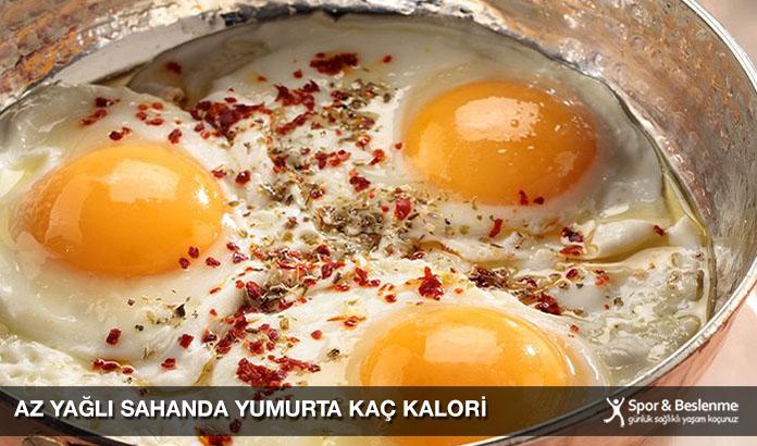Az Yağlı Sahanda Yumurta Kaç Kalori