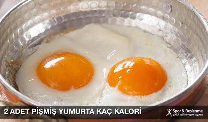 2 Adet Pişmiş Yumurta Kaç Kalori